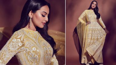 Yo or Hell No? Sonakshi Sinha's Yellow Anarkali Suit by Falguni & Shane Peacock for Dabangg 3 Promotions